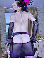 LacyNylons :: Biddy teasing with her nylons