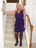 Purple dress (on the stairs)