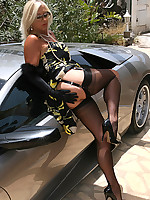 Amazing Astrid | Free Stocking Pics | Horny MILF With Big Boobs In Stockings And High Heels