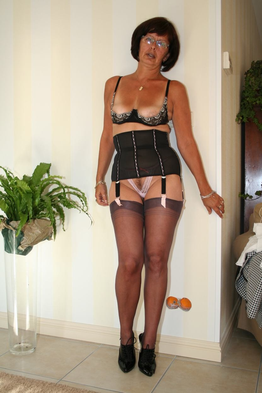 Grannies girdles stockings
